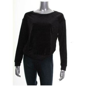 Hippie Rose Junior M Black Velvet Sweatshirt 5AI49